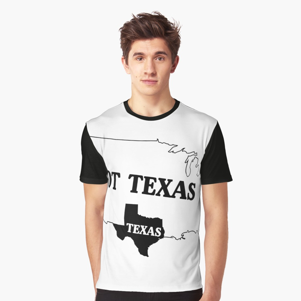 "Texas Or Not Texas Map Of The Usa"" T-Shirtwhereables 