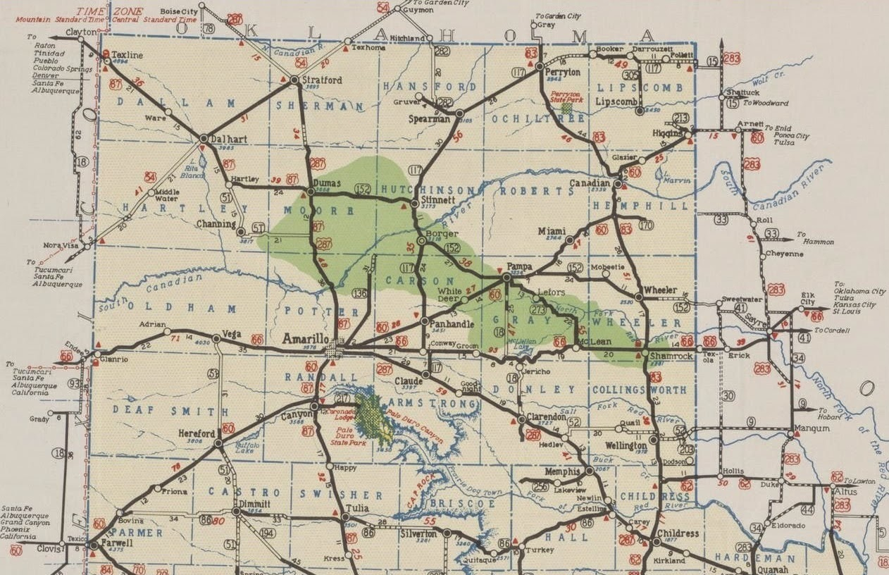 Texas Panhandle Map And Travel Information | Download Free Texas - Texas Panhandle Road Map
