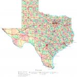 Texas Printable Map   Texas County Map With Roads