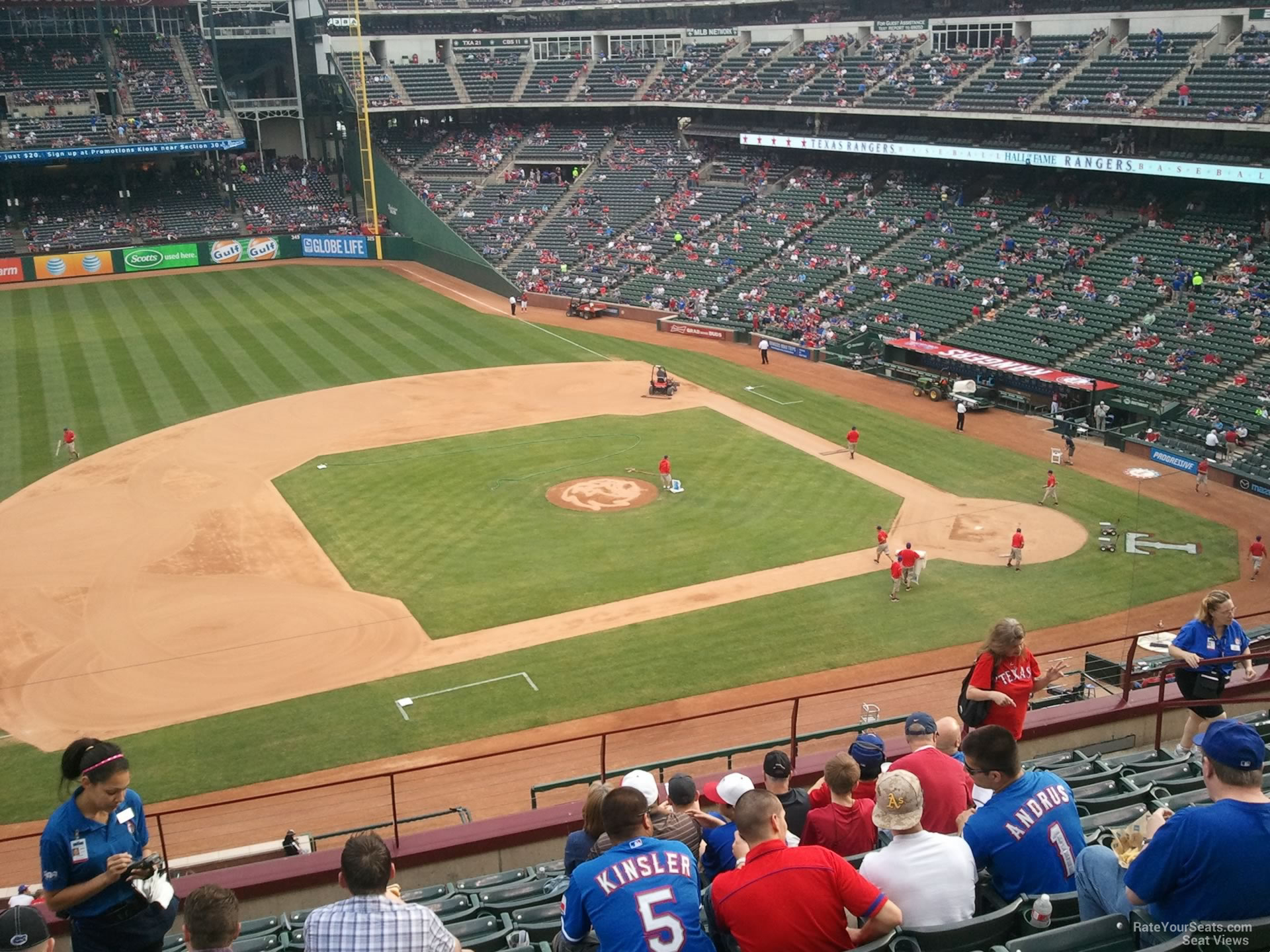 Texas Rangers Globe Life Park Seating Chart & Interactive Map - Texas Rangers Stadium Seating Map