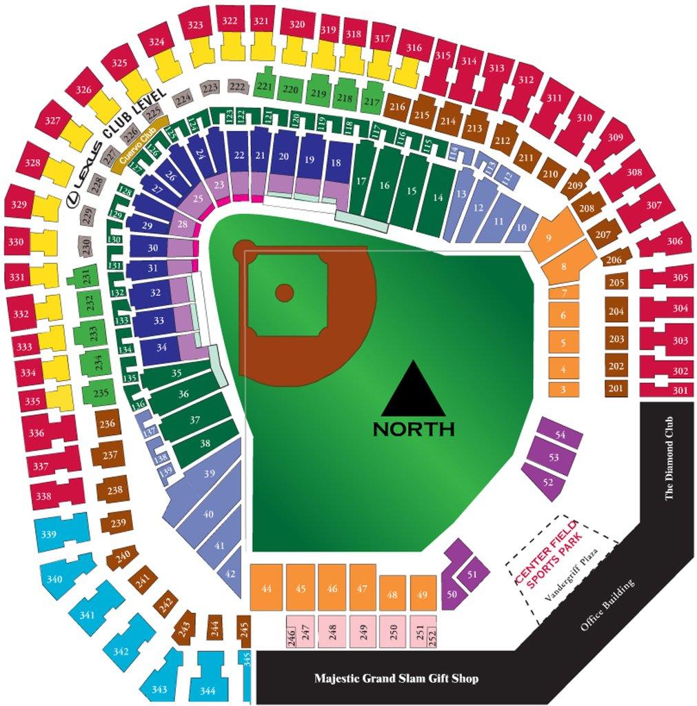 Texas Rangers Map Of Stadium | Smoothoperators - Texas Rangers Ballpark Map