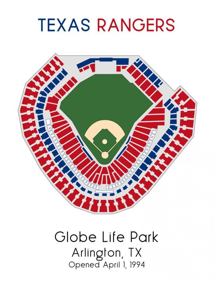 Texas Rangers Stadium Map