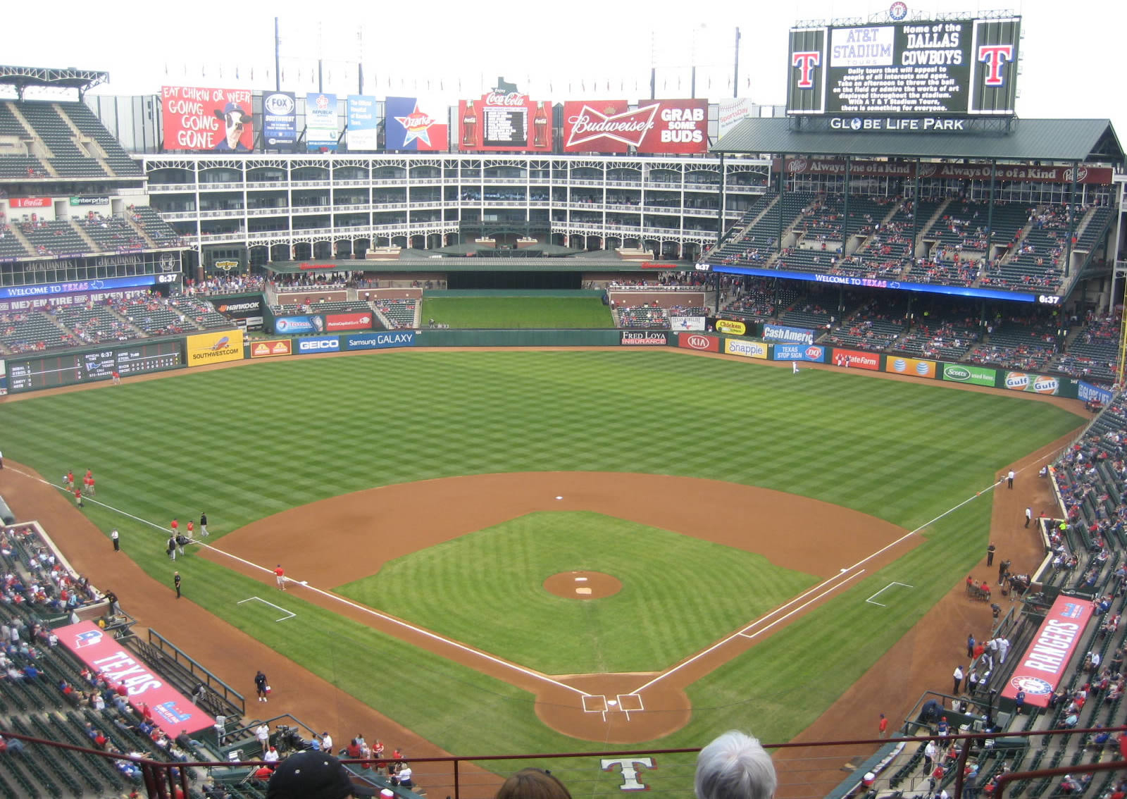 Texas Rangers Seating Guide - Globe Life Park (Rangers Ballpark - Texas Rangers Stadium Seating Map