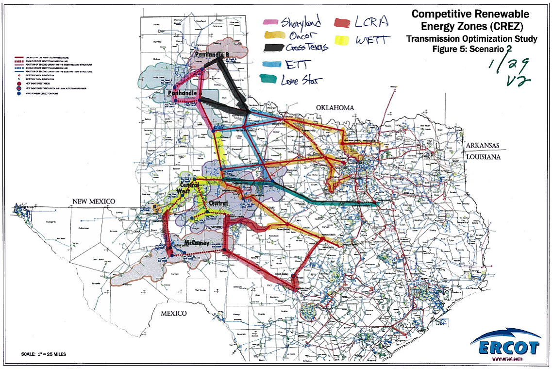 Texas Regulators Choose Companies To Build Transmission To Reach - Electric Transmission Lines Map Texas
