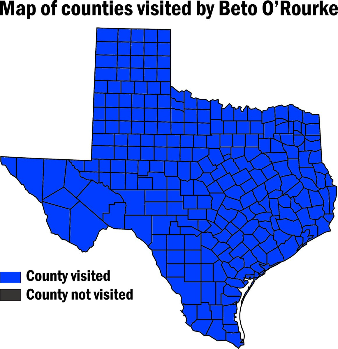 """Texas Resistance On Twitter: """"i Made A Handy Map To Show Every - Map Beto For Texas"""