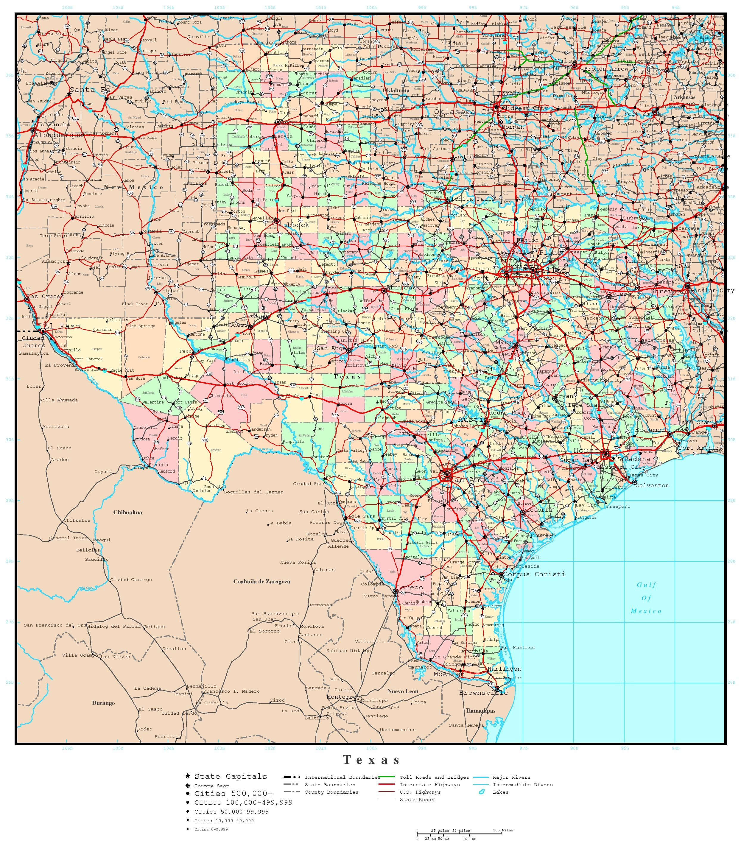 Road Map Of Texas Highways | Printable Maps