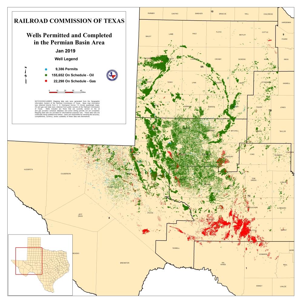 Texas Rrc - Permian Basin Information - Permian Basin Texas Map