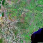 Texas Satellite Images   Landsat Color Image   Lake Of The Pines Texas Map