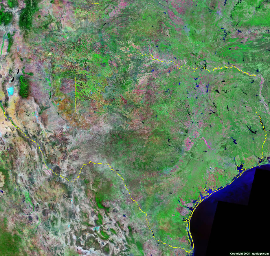 Texas Satellite Images - Landsat Color Image - Lake Of The Pines Texas Map