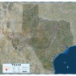 Texas Satellite Wall Map   Maps   Satellite Map Of Texas
