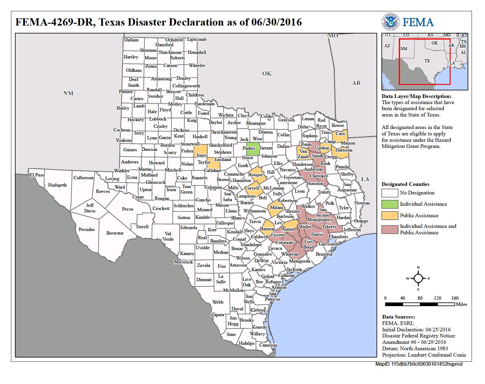 Texas Severe Storms And Flooding (Dr-4269) | Fema.gov - Texas Flood Map