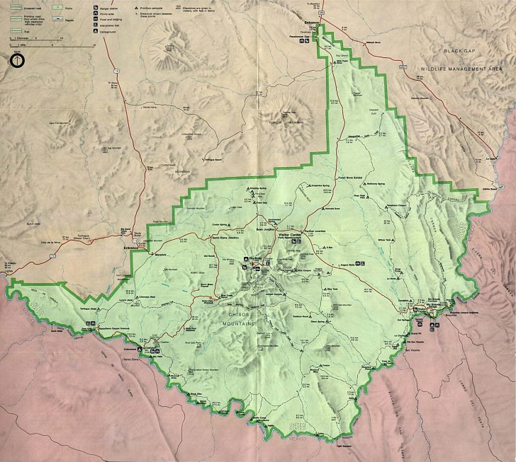 Big Bend Texas Map
