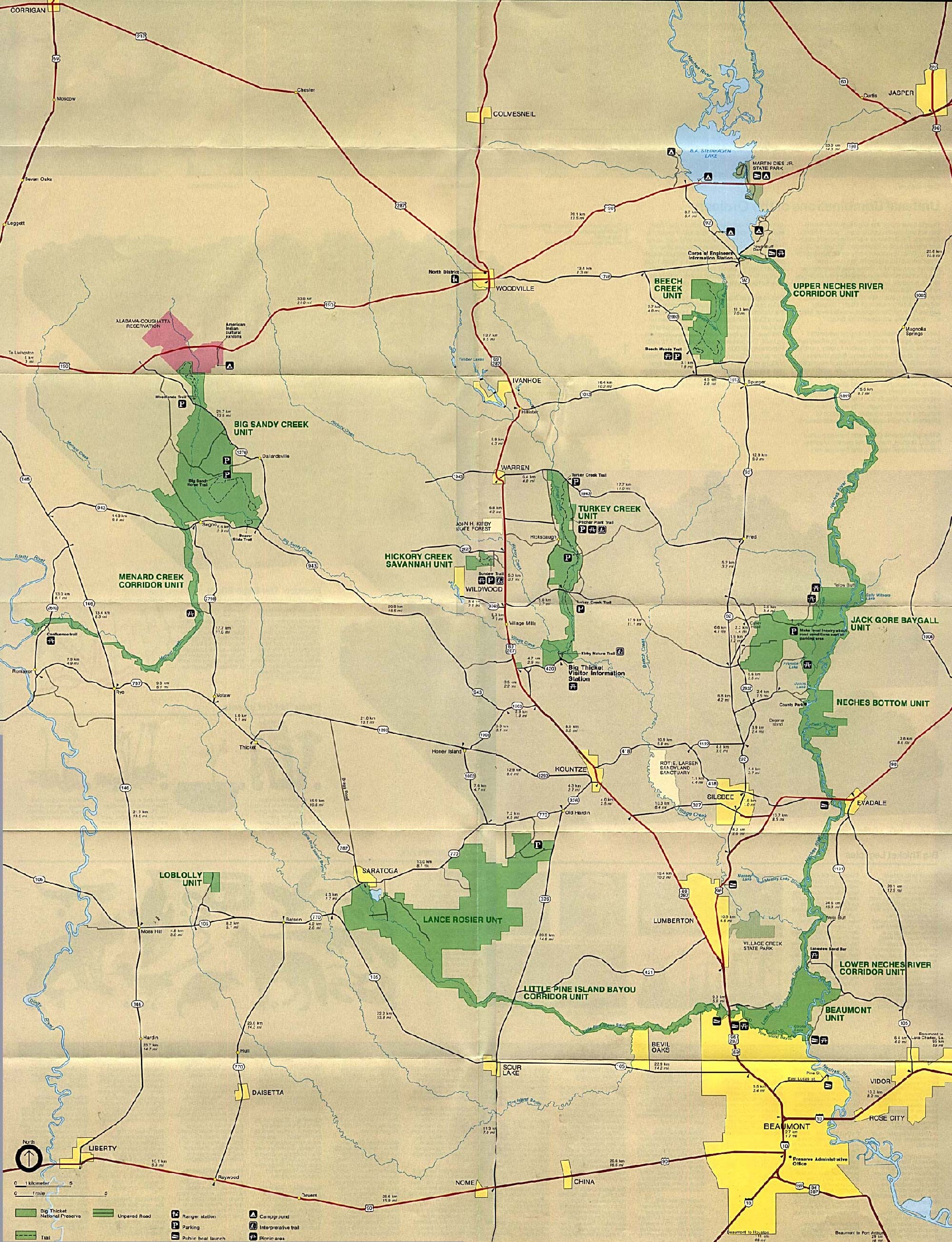 Texas State And National Park Maps - Perry-Castañeda Map Collection - Johnson City Texas Map