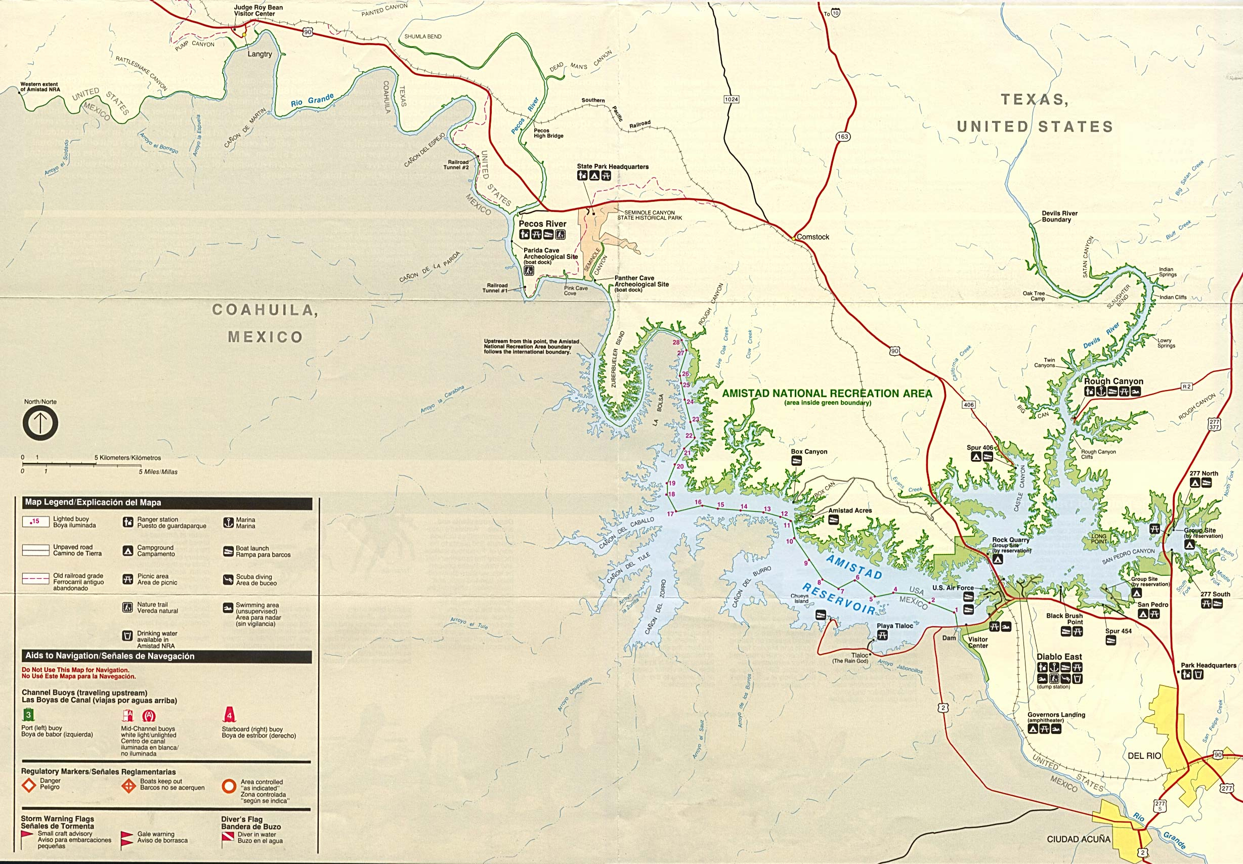 Texas State And National Park Maps - Perry-Castañeda Map Collection - Texas Hiking Trails Map