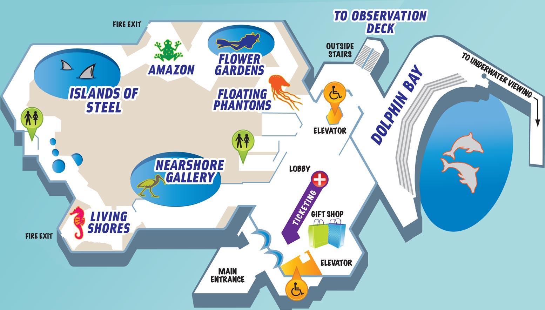 Texas State Aquarium - Texas State Aquarium Map