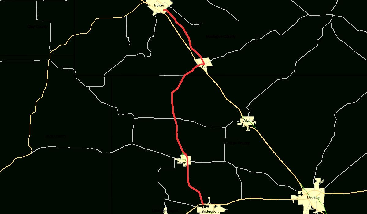 Texas State Highway 101 - Wikipedia - Bridgeport Texas Map