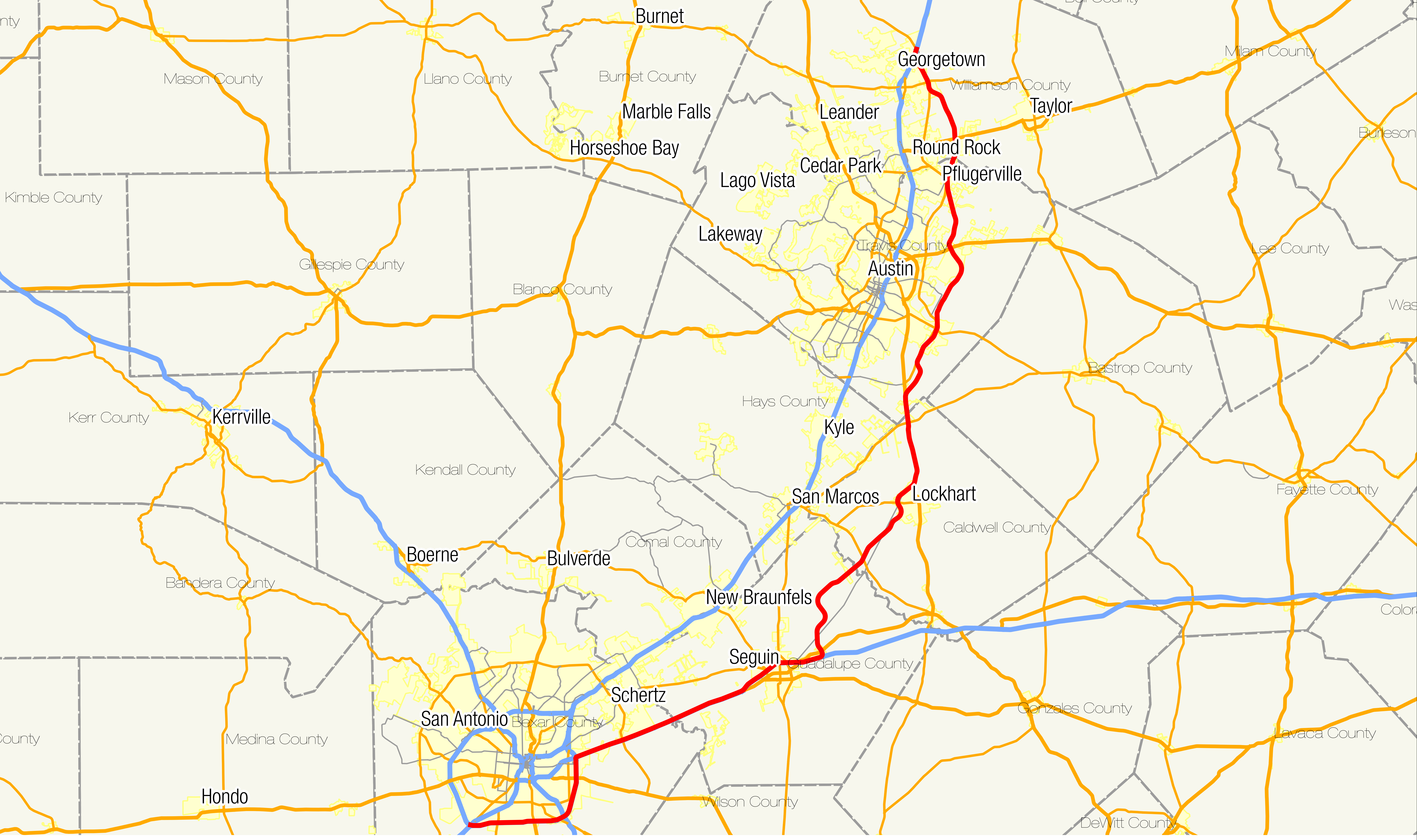 Texas State Highway 130 - Wikipedia - Texas Highway Construction Map