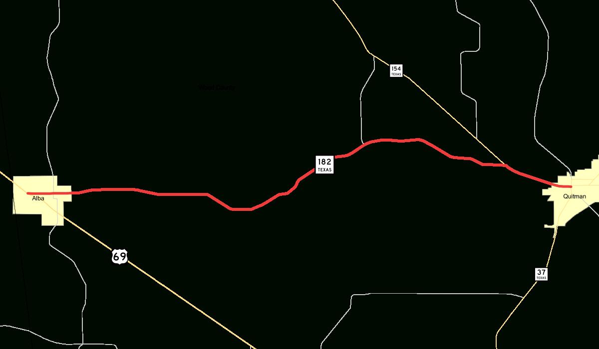 Texas State Highway 182 - Wikipedia - Alba Texas Map