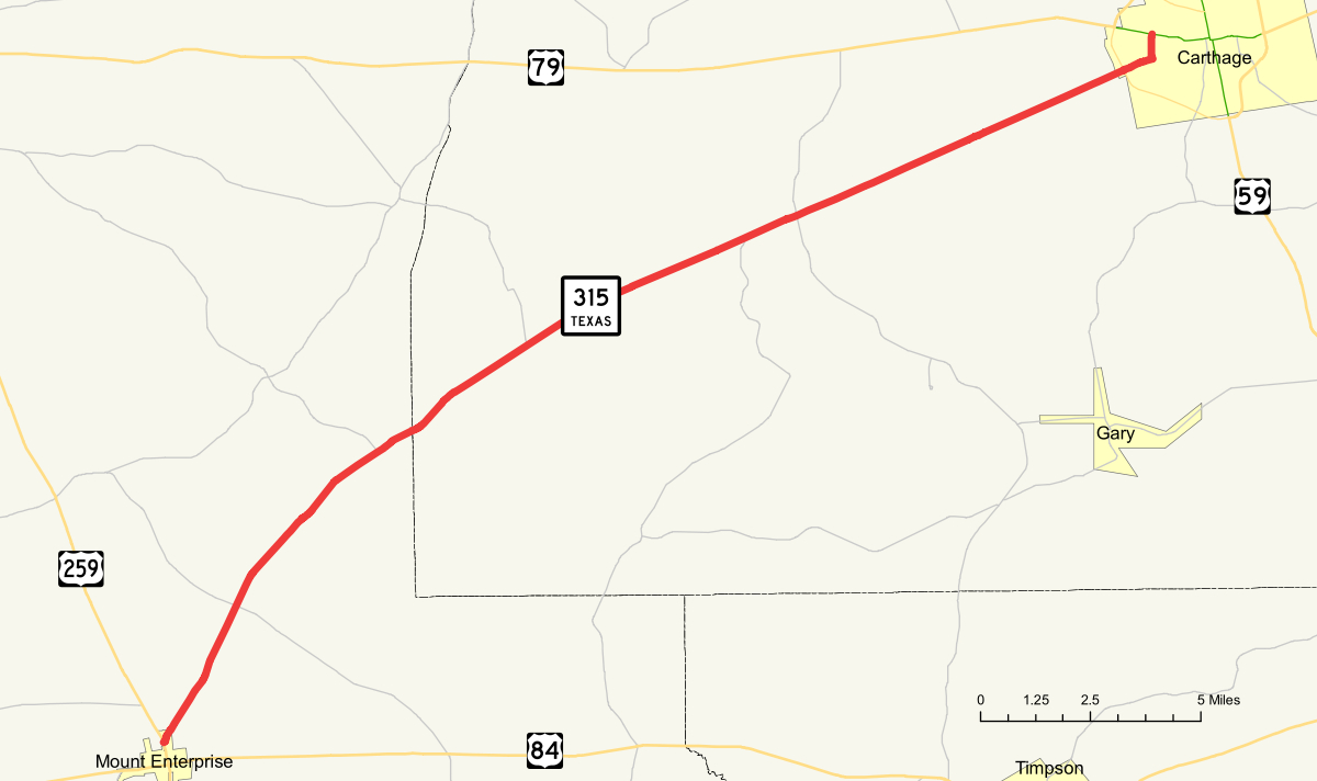 Texas State Highway 315 - Wikipedia - Rusk County Texas Map