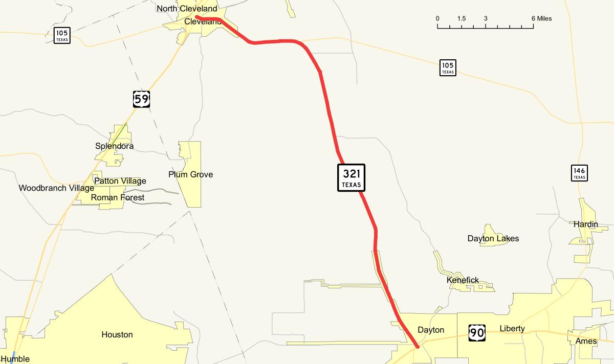 Texas State Highway 321 - Wikipedia - Dayton Texas Map