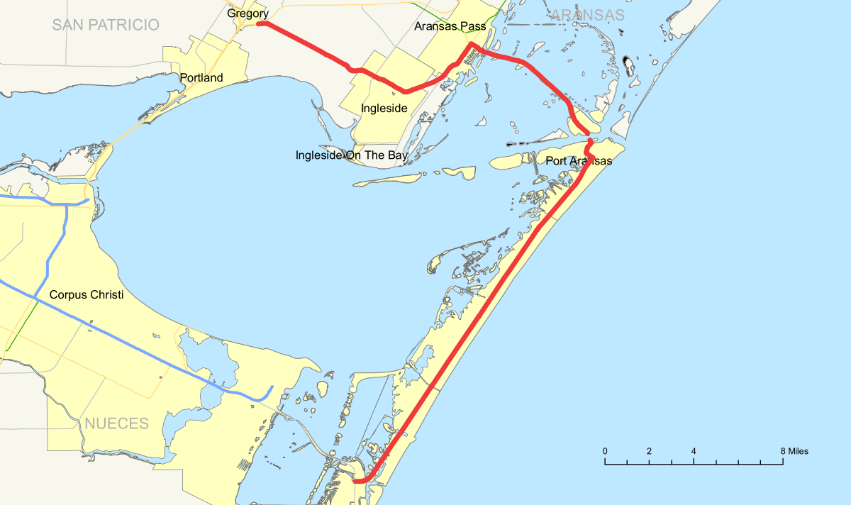 Texas State Highway 361 - Wikipedia - Map Of Aransas Pass Texas