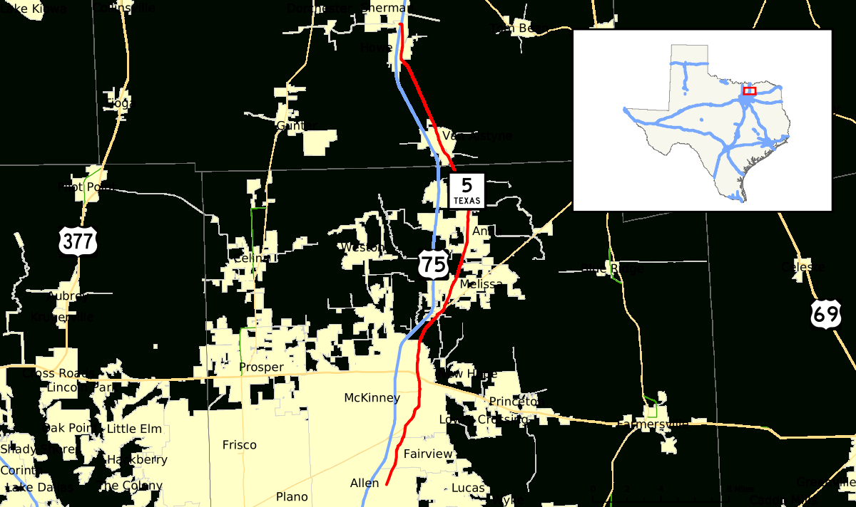 Texas State Highway 5 - Wikipedia - Celina Texas Map