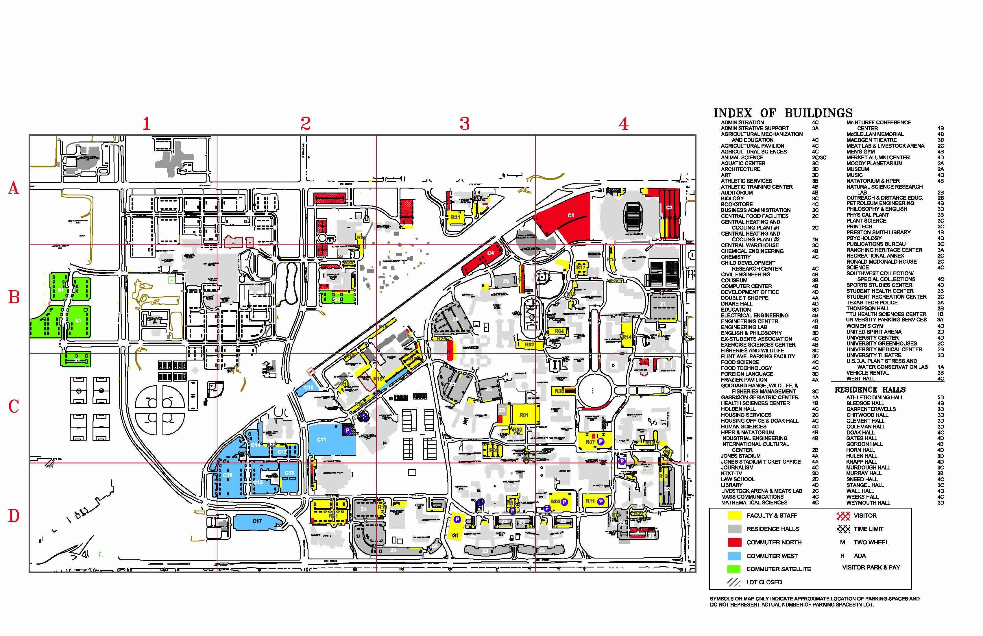 Texas State University Map Mcc Campus Map - Texas Tech Housing Map