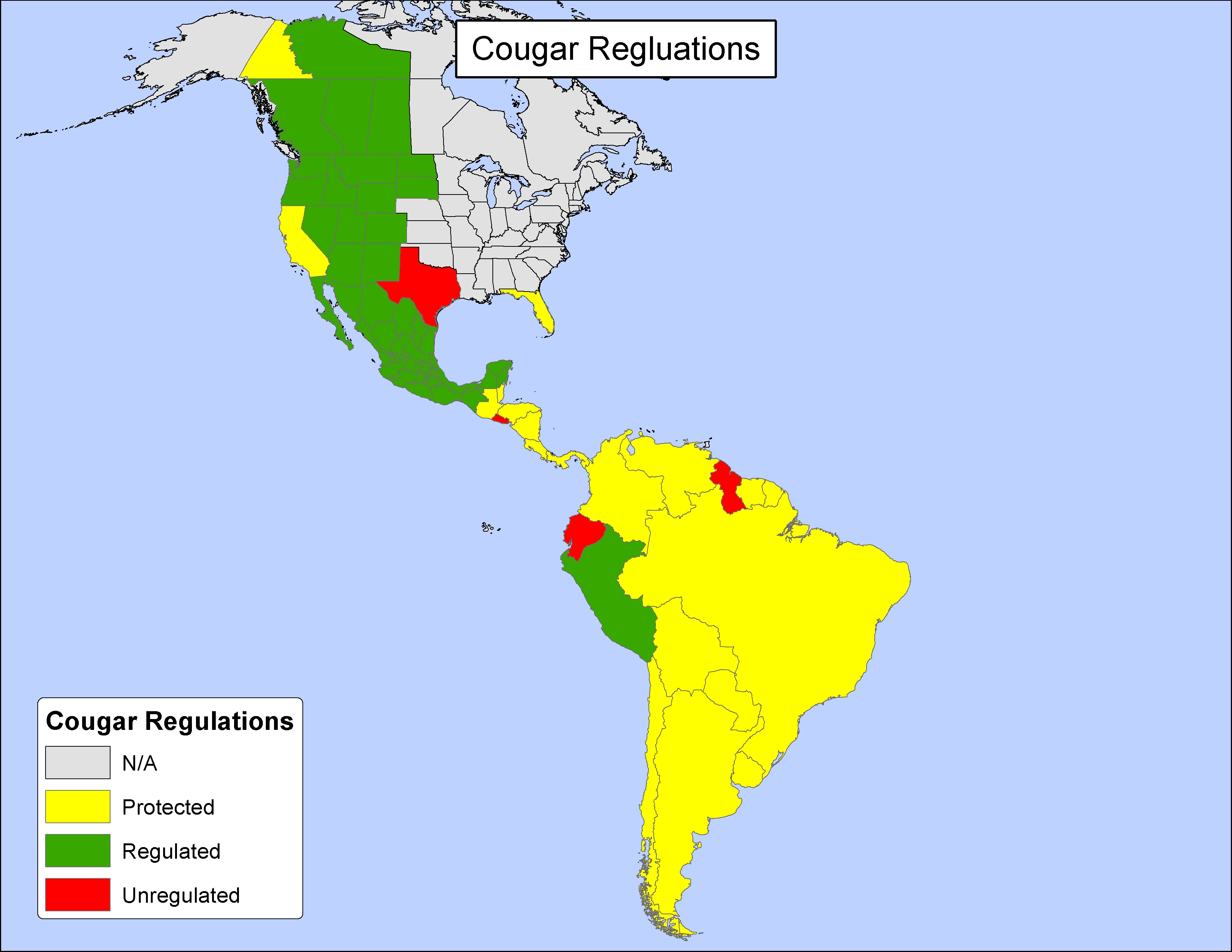 Texas Still Allows Unregulated Hunting Of Cougar | Wildtrack - Mountain Lions In Texas Map