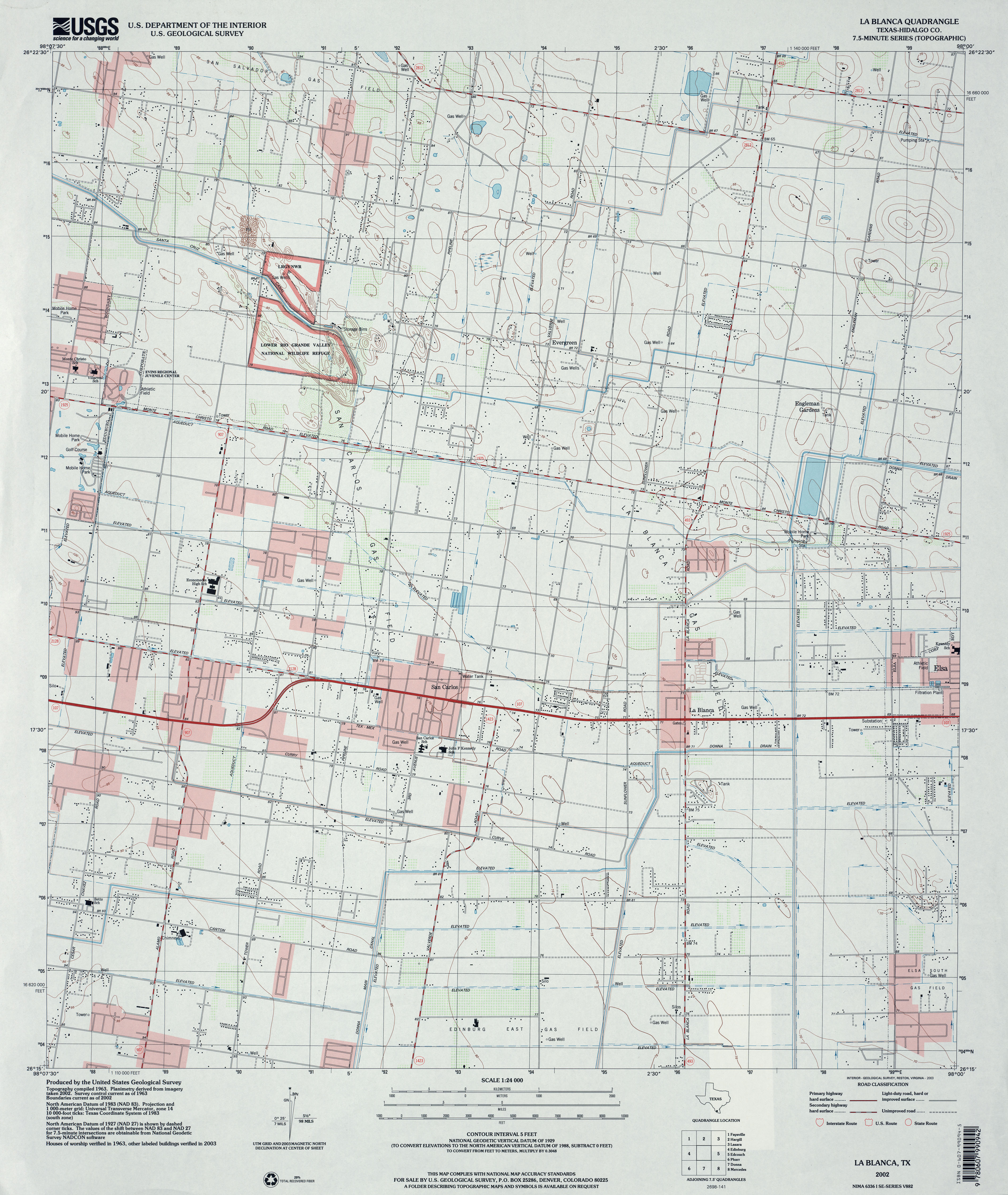 Texas Topographic Maps - Perry-Castañeda Map Collection - Ut Library - Gaines County Texas Section Map