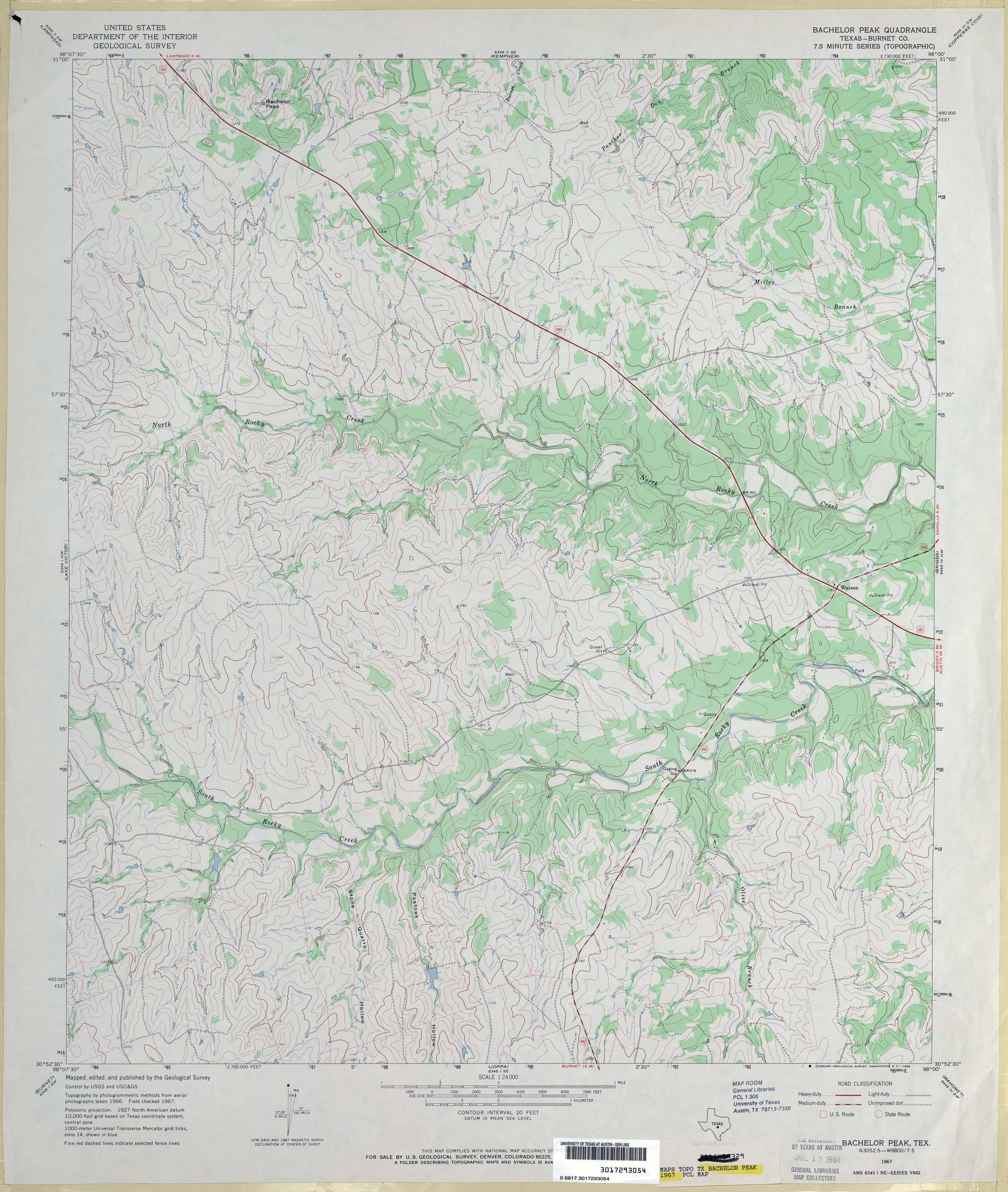 Texas Topographic Maps - Perry-Castañeda Map Collection - Ut Library - Howard County Texas Section Map