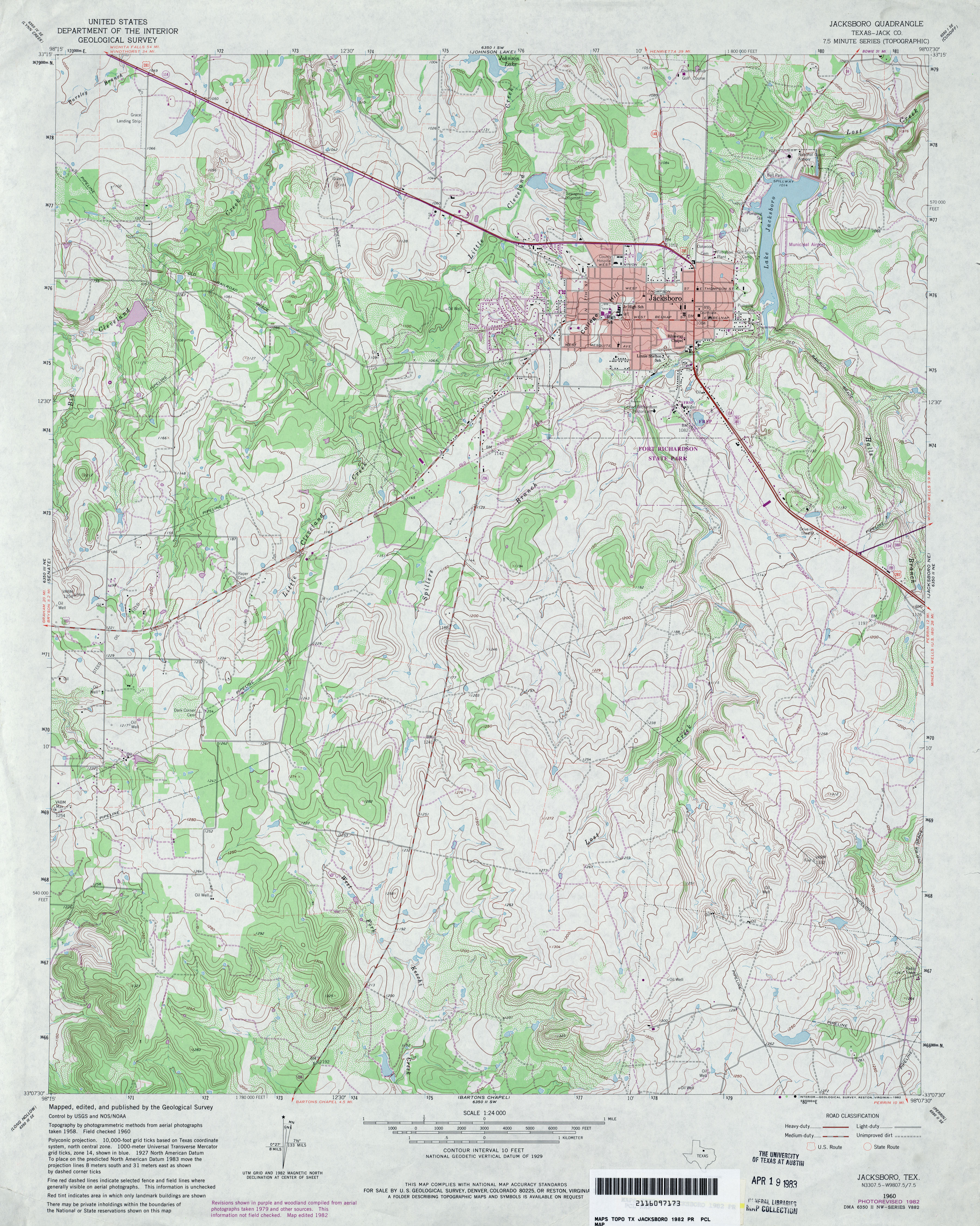 Texas Topographic Maps - Perry-Castañeda Map Collection - Ut Library - Jack County Texas Map