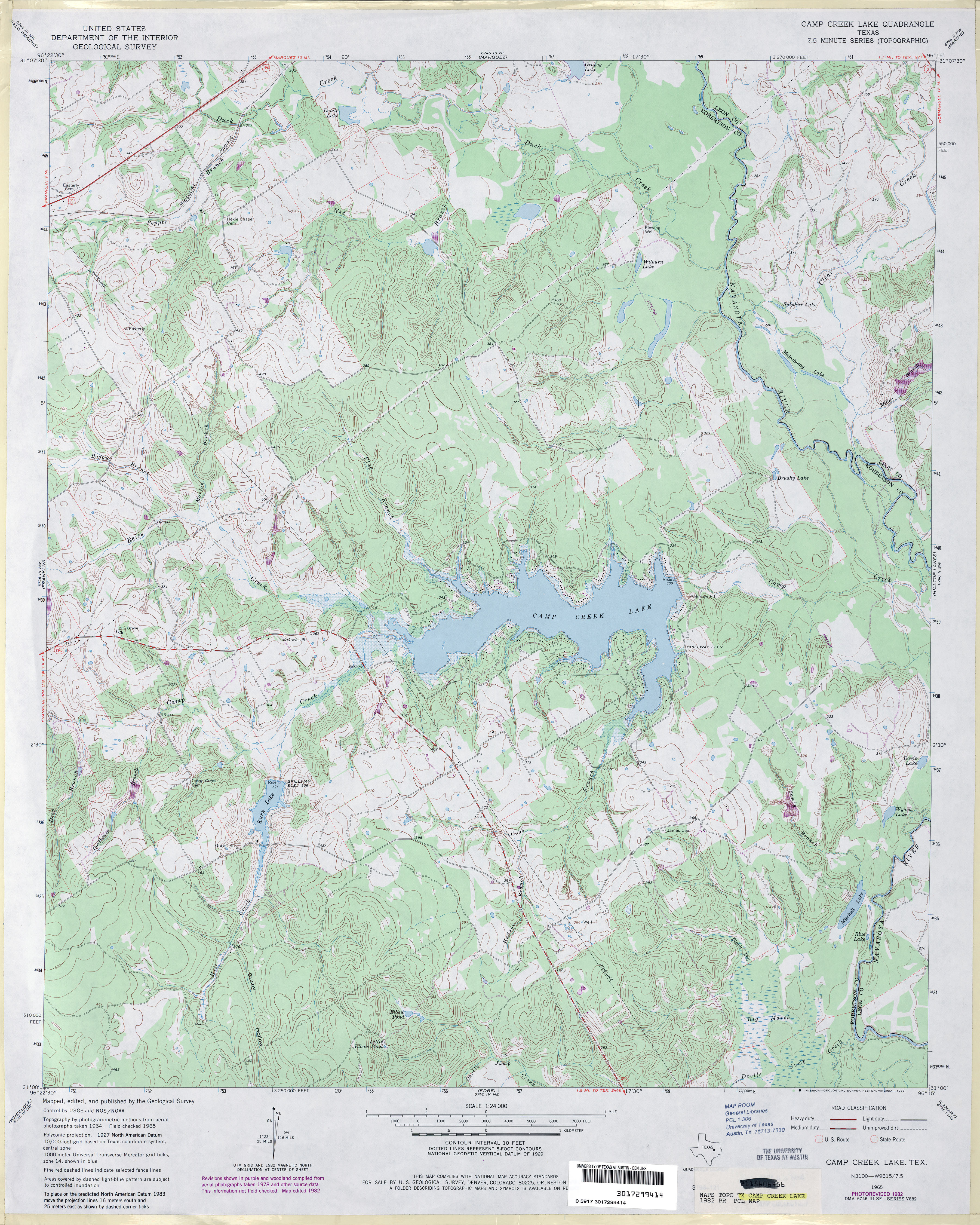 Texas Topographic Maps - Perry-Castañeda Map Collection - Ut Library - Map Of Lake Conroe Texas