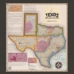 Texas Wine Country Map, Appellations & Wineries   Framed   Vinmaps®   Texas Wine Country Map