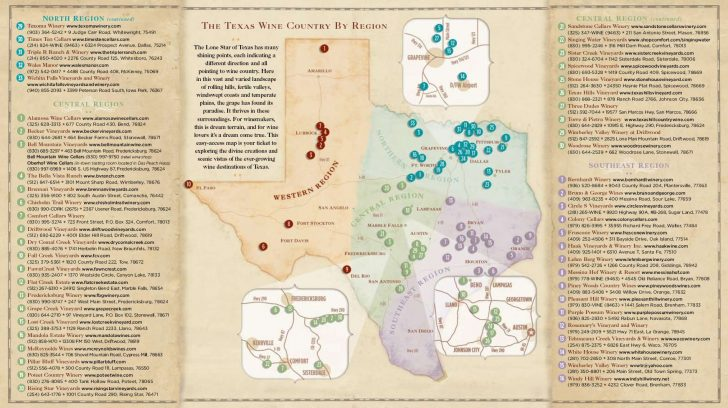 Fredericksburg Texas Winery Map