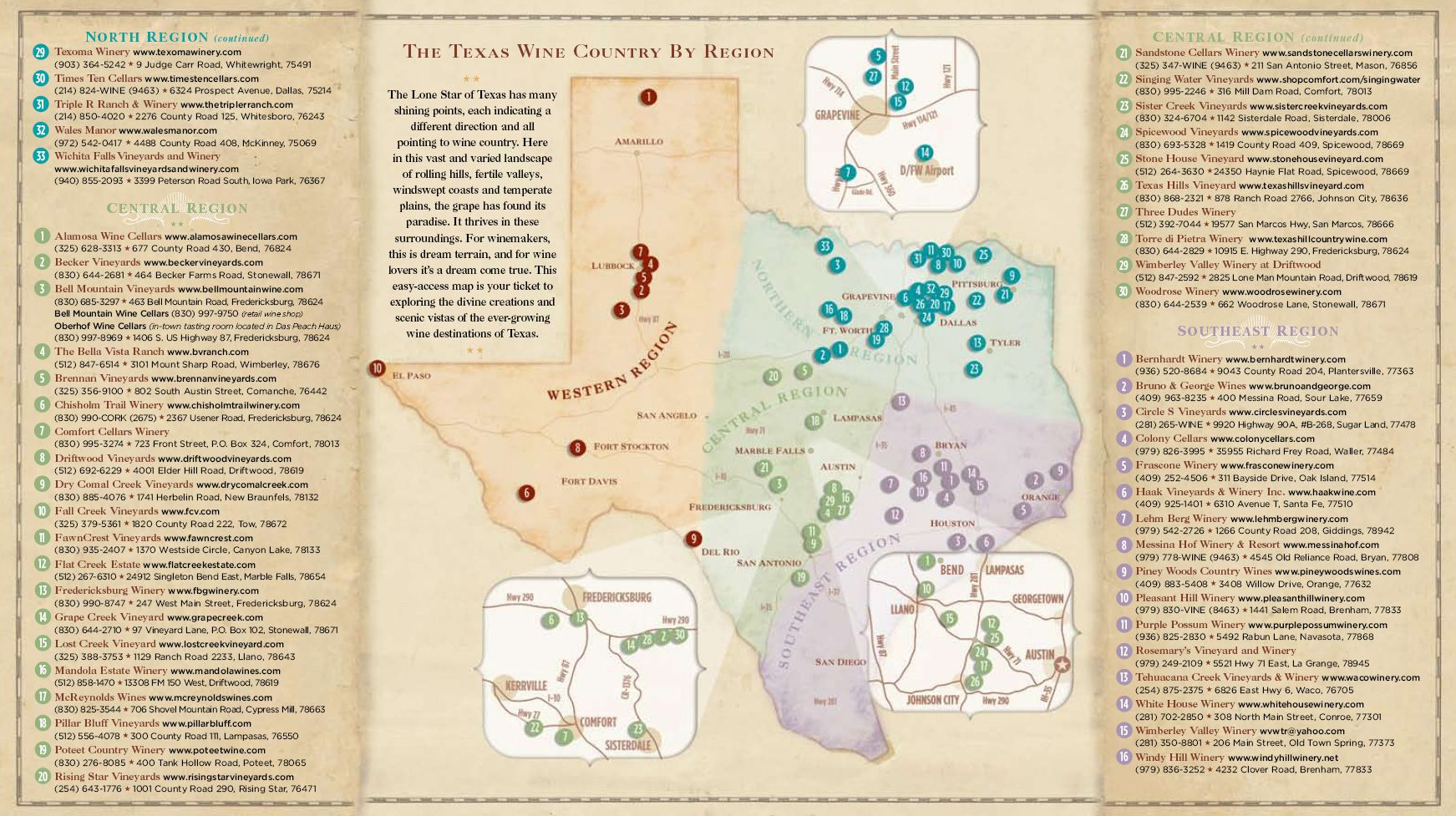 Texas Wine Country Map -Texas Has Eight Officially Recognized - Texas Wine Country Map