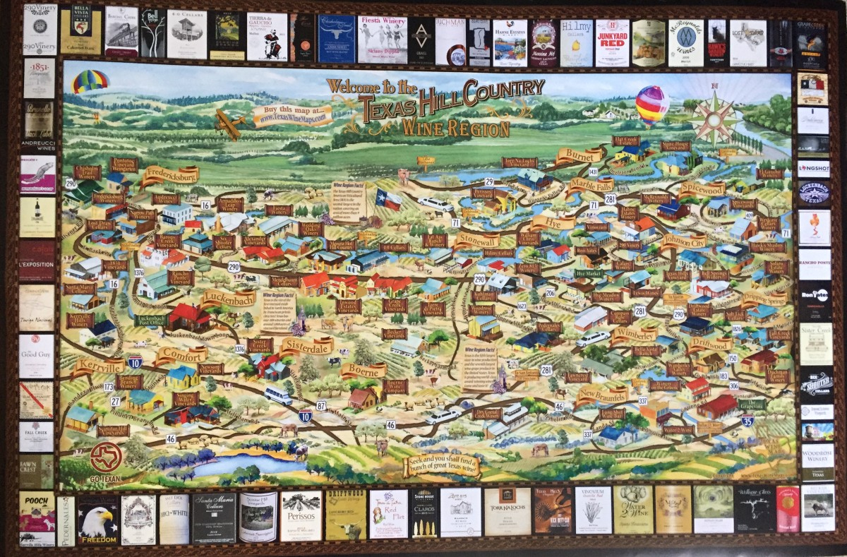 Texas Wine Maps | Texas Wine Lover - Texas Wine Trail Map