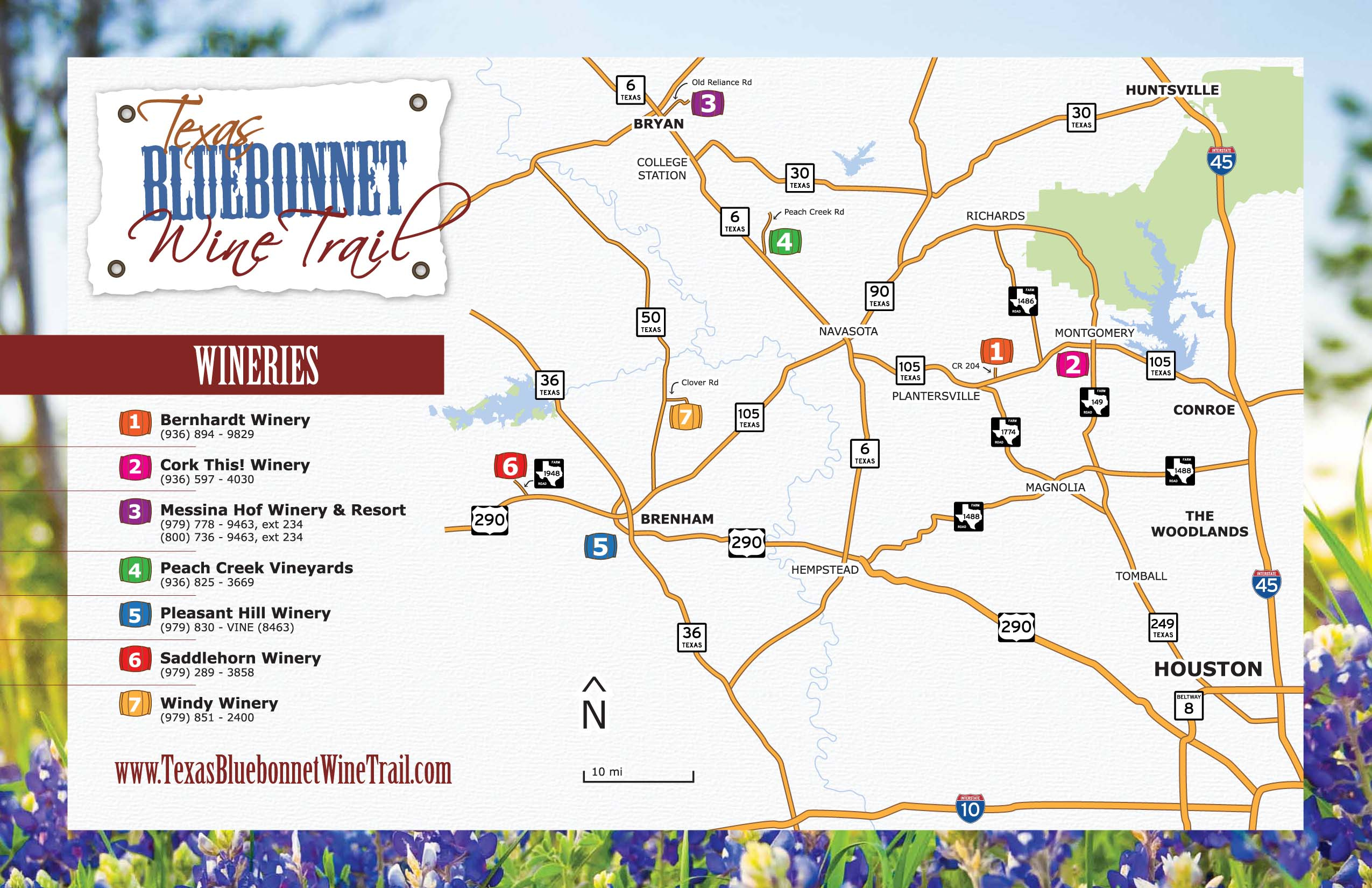 Texas Winery Map | Business Ideas 2013 - North Texas Wine Trail Map