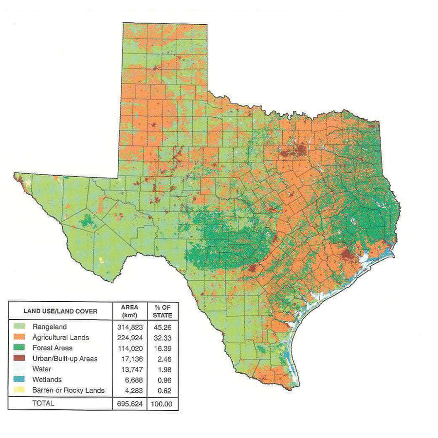 Texas Young Farmers - Taste Of Texas - Lands Of Texas Map