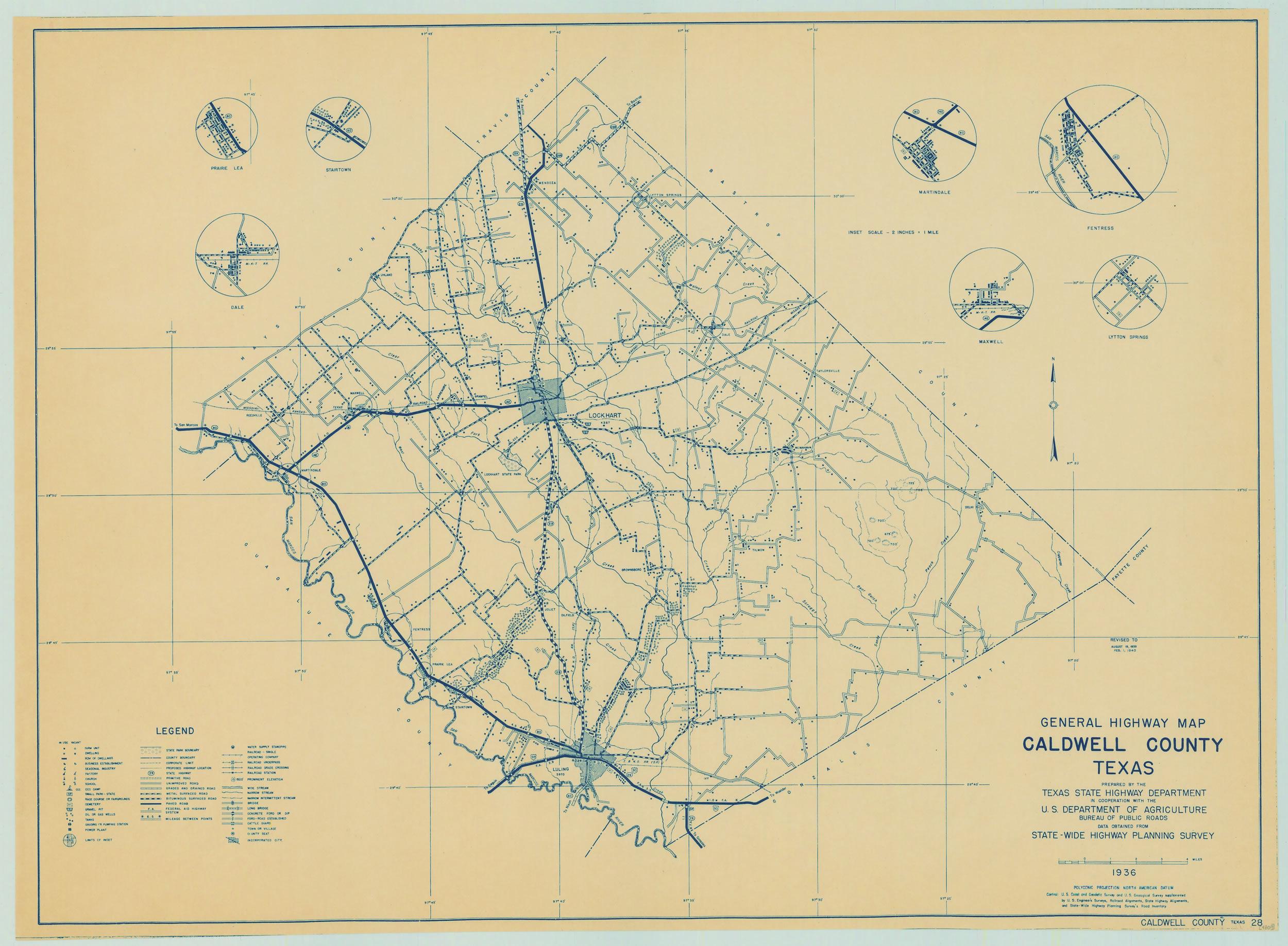Texasfreeway > Statewide - Caldwell Texas Map