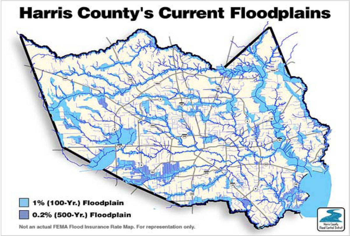 """The """"500-Year"""" Flood, Explained: Why Houston Was So Underprepared - Texas Flood Zone Map 2016"""