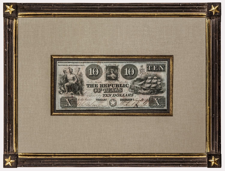 The Antiquarium - Antique Print & Map Gallery - Republic Of Texas - Republic Of Texas Map Framed