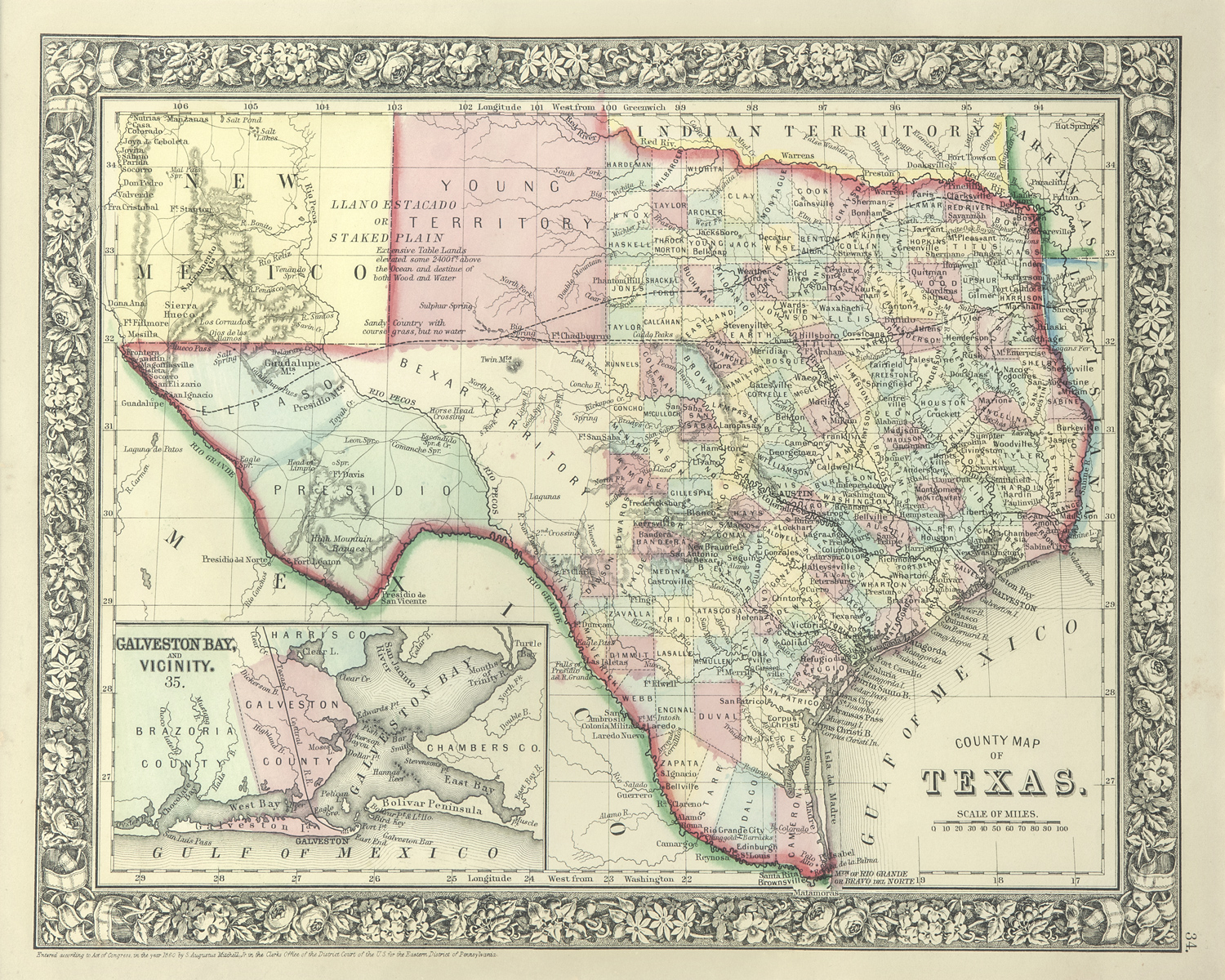 The Antiquarium - Antique Print & Map Gallery - Texas Maps - Texas Historical Maps For Sale