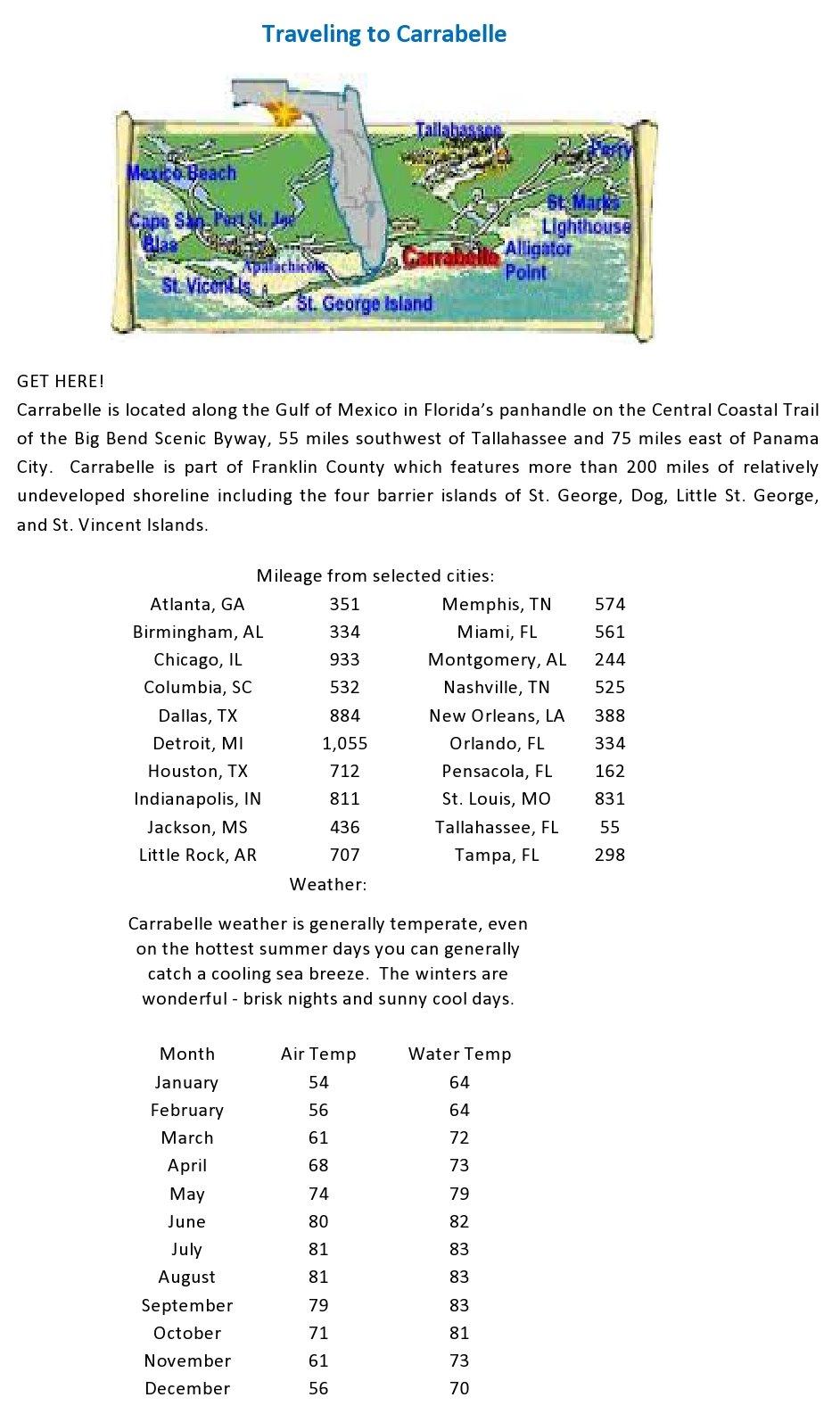 The Area - Carrabelle Florida - Carrabelle Florida Map