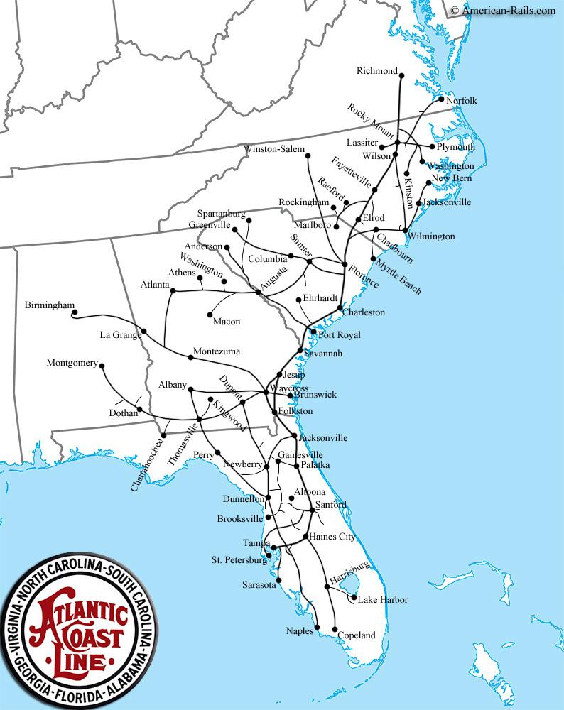The Atlantic Coast Line People, Up-Close | Florida Historical Society - Florida Atlantic Coast Map