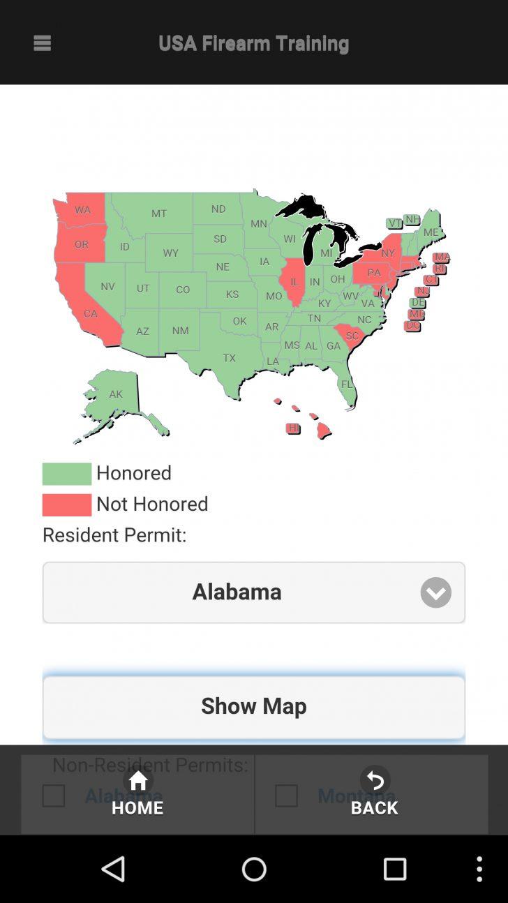 Texas Reciprocity Map 2017