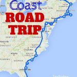 The Best Ever East Coast Road Trip Itinerary | Usa Travel Tips   Map Of East Coast Of Florida Cities