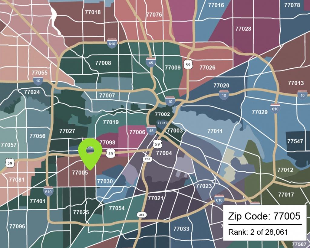 The Best Zip Codes In Houston - Houston Chronicle - Map Of Northwest Houston Texas