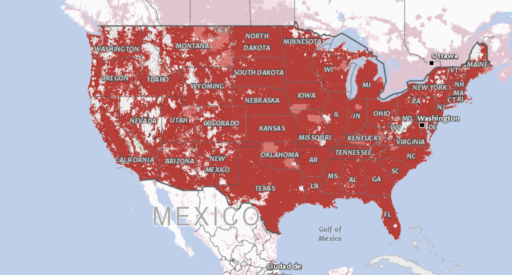 The Fcc Is Investigating Cell Carriers' Wireless Coverage Maps - Verizon Service Map California