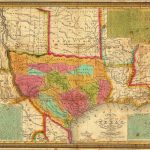 The First Map Published After Texas Became An Independent Sovereign   Republic Of Texas Map Overlay