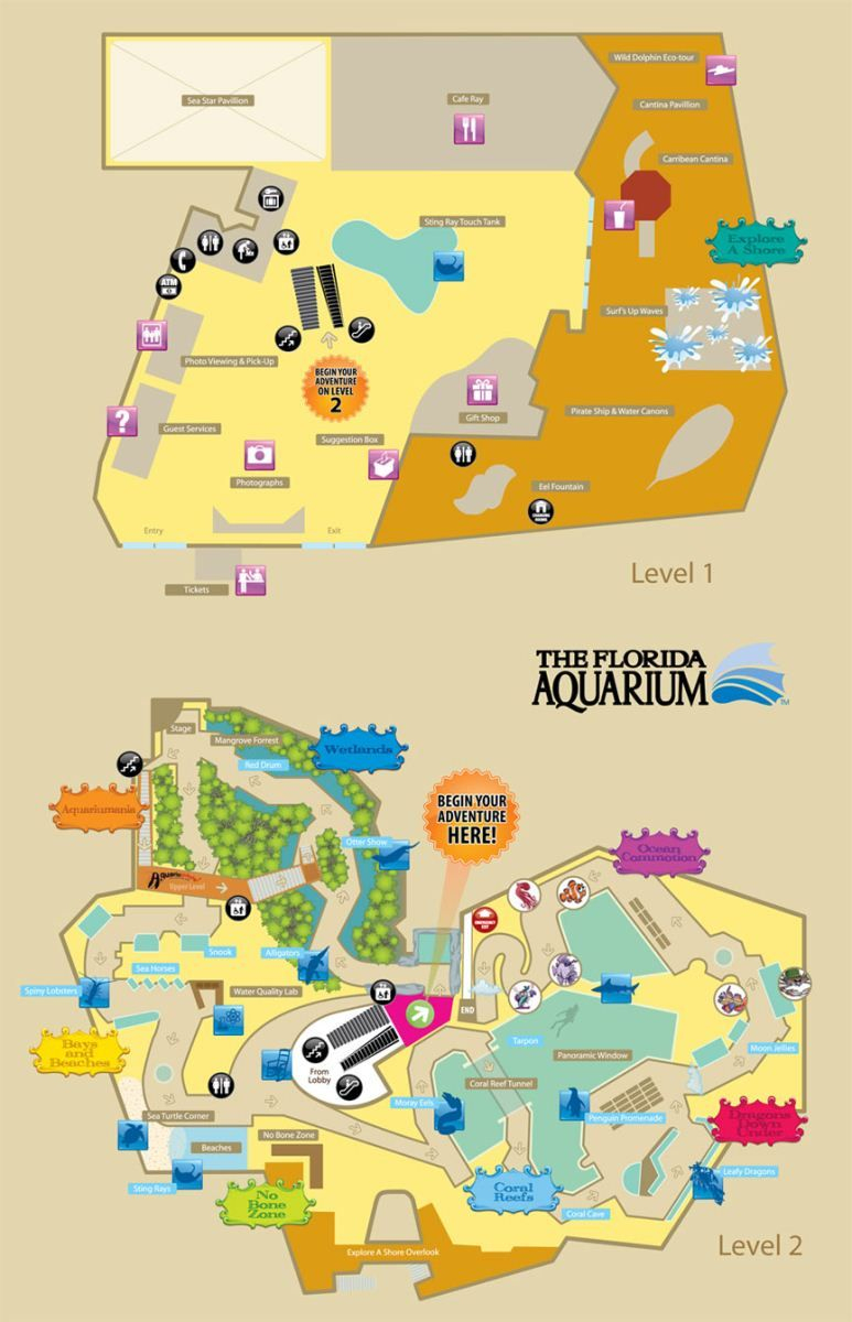 The Florida Aquarium, Tampa Bay | Florida | Florida Style, Florida - Florida Aquarium Map